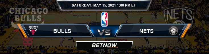 Chicago Bulls vs Brooklyn Nets 5-15-2021 Spread Picks and Prediction
