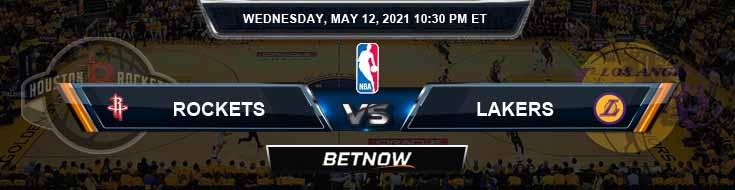 Houston Rockets vs Los Angeles Lakers 5-12-2021 NBA Spread and Picks