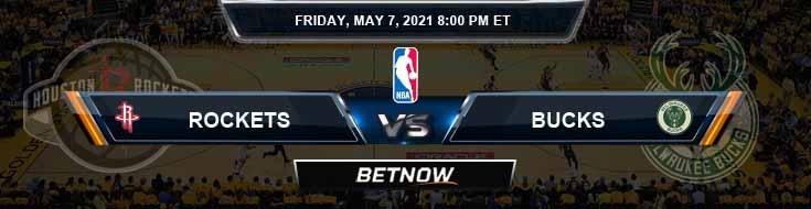 Houston Rockets vs Milwaukee Bucks 5-7-2021 NBA Spread and Picks