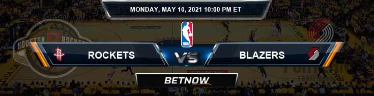 Houston Rockets vs Portland Trail Blazers 5-10-2021 NBA Odds and Picks