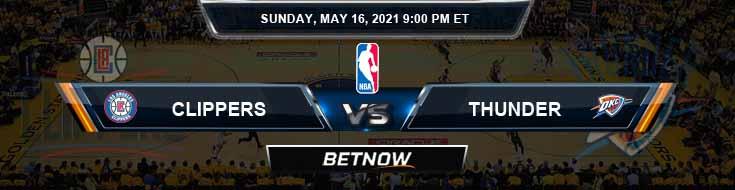 Los Angeles Clippers vs Oklahoma City Thunder 5-16-2021 NBA Odds and Picks