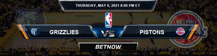 Memphis Grizzlies vs Detroit Pistons 5-6-2021 Odds Picks and Previews