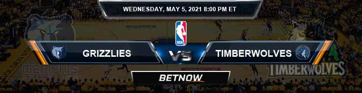 Memphis Grizzlies vs Minnesota Timberwolves 5-5-2021 NBA Odds and Picks