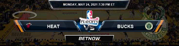 Miami Heat vs Milwaukee Bucks 5-24-2021 Spread Picks and Previews