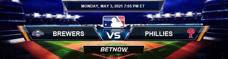 Milwaukee Brewers vs Philadelphia Phillies 05-03-2021 Picks Predictions and Previews