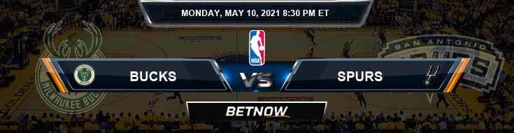 Milwaukee Bucks vs San Antonio Spurs 5-10-2021 NBA Odds and Picks