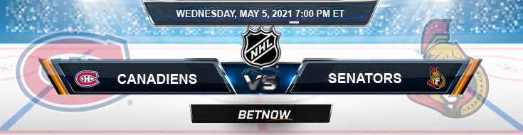 Montreal Canadiens vs Ottawa Senators 05-05-2021 Forecast Hockey Betting & Odds