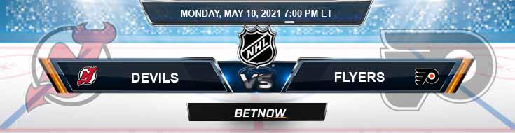 New Jersey Devils vs Philadelphia Flyers 05-10-2021 Hockey Betting Predictions & Previews