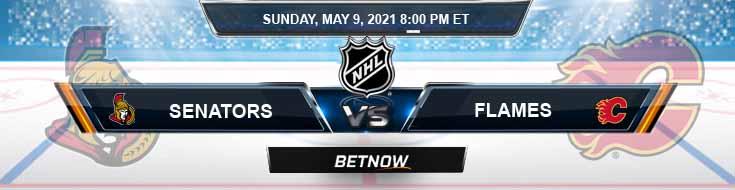 Ottawa Senators vs Calgary Flames 05-09-2021 Hockey Betting Odds & Spread