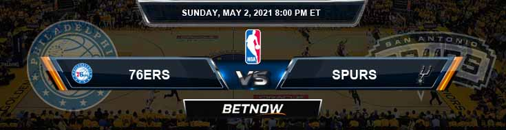 Philadelphia 76ers vs San Antonio Spur 5-2-2021 NBA Odds and Picks
