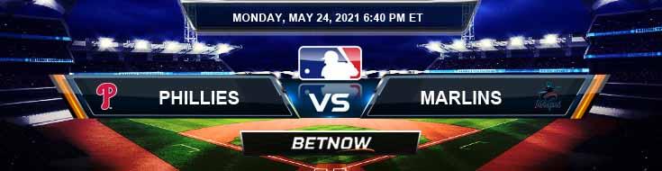 Philadelphia Phillies vs Miami Marlins 05-24-2021 Spread Game Analysis and MLB Baseball