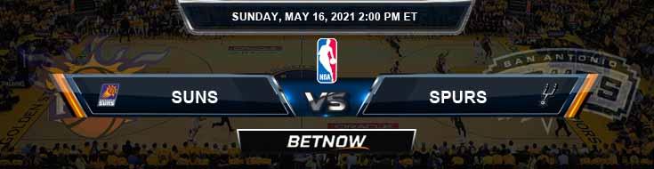 Phoenix Suns vs San Antonio Spurs 5-16-2021 Odds Picks and Previews