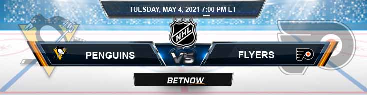 Pittsburgh Penguins vs Philadelphia Flyers 05-04-2021 NHL Spread Odds & Results