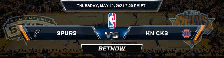 San Antonio Spurs vs New York Knicks 5-13-2021 NBA Spread and Picks