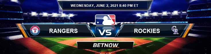 Texas Rangers vs Colorado Rockies 06-02-2021 Results MLB Odds and Picks