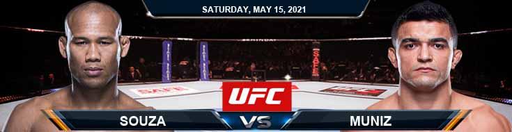UFC 262 Souza vs Muniz 05-15-2021 Tips Results and Analysis