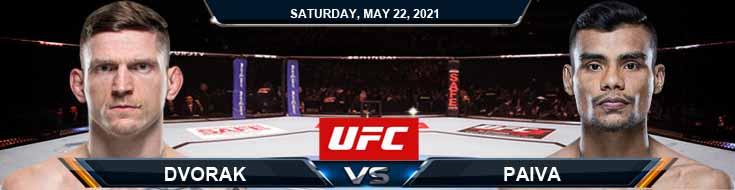 UFC Fight Night 188 Dvorak vs Paiva 05-22-2021 Forecast Tips and Results