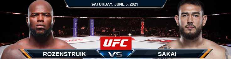 UFC Fight Night 189 Rozenstruik vs Sakai 06-05-2021 Odds Picks and Predictions