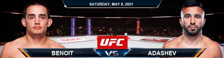 UFC on ESPN 24 Benoit vs Adashev 05-08-2021 Forecast Tips and Results
