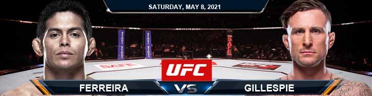 UFC on ESPN 24 Ferreira vs Gillespie 05-08-2021 Predictions Fight Previews and Spread
