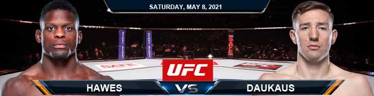 UFC on ESPN 24 Hawes vs Daukaus 05-08-2021 Spread Fight Analysis and Forecast