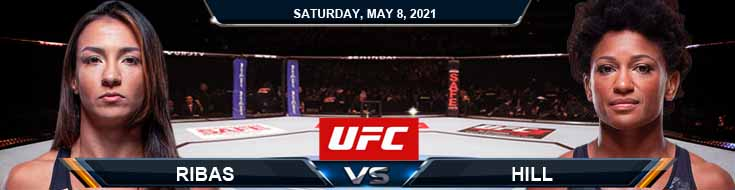 UFC on ESPN 24 Ribas vs Hill 05-08-2021 Betting Previews Spread and Fight Analysis