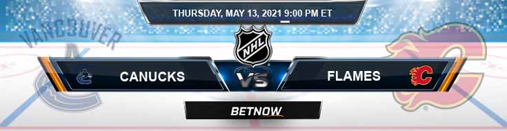 Vancouver Canucks vs Calgary Flames 05-13-2021 NHL Results Picks & Previews