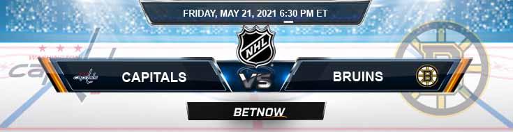 Washington Capitals vs Boston Bruins 05-21-2021 NHL Results Picks & Previews