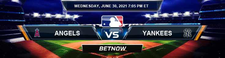 Los Angeles Angels vs New York Yankees 06-30-2021 MLB Odds Picks and Predictions