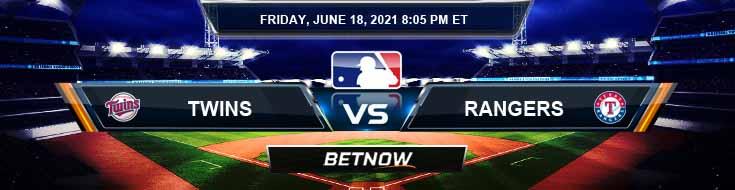 Minnesota Twins vs Texas Rangers 06-18-2021 Prediction Previews and Spread