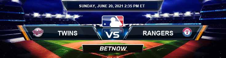 Minnesota Twins vs Texas Rangers 06-20-2021 Odds Picks and Predictions
