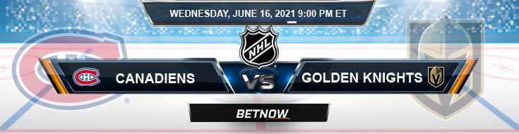 Montreal Canadiens vs Vegas Golden Knights 06-16-2021 NHL Spread Odds & Results