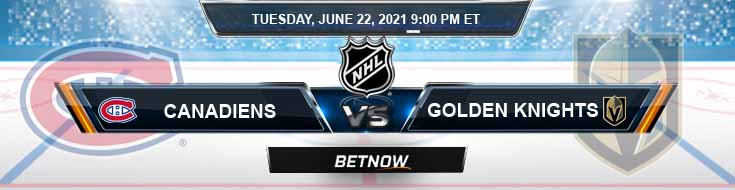 Montreal Canadiens vs Vegas Golden Knights 06-22-2021 Betting Odds Tips and NHL Predictions