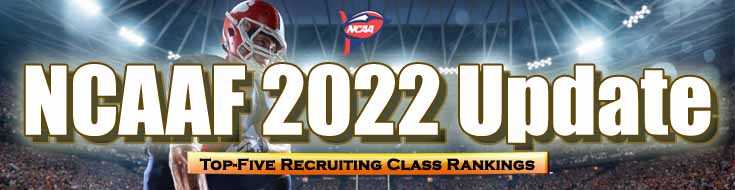 NCAAF 2022 Update Top-Five Recruiting Class Rankings