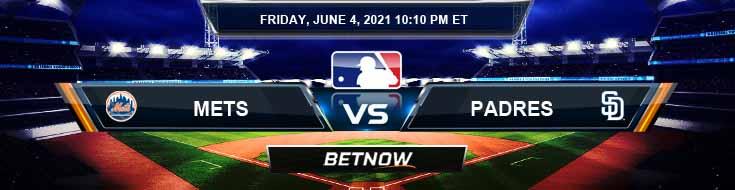 New York Mets vs San Diego Padres 06-04-2021 Spread Game Analysis and MLB Baseball