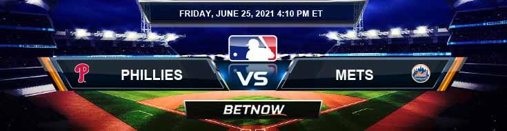 Philadelphia Phillies vs New York Mets 06-25-2021 MLB Baseball Tips and Forecast