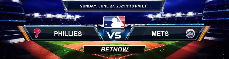 Philadelphia Phillies vs New York Mets 06-27-2021 Previews Spread and Game Analysis