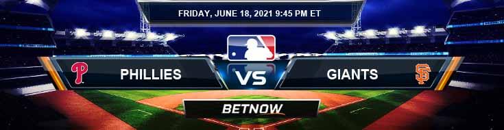 Philadelphia Phillies vs San Francisco Giants 06-18-2021 Baseball Betting Analysis and Results