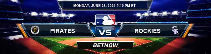 Pittsburgh Pirates vs Colorado Rockies 06-28-2021 Spread Game Analysis and MLB Baseball
