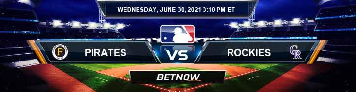 Pittsburgh Pirates vs Colorado Rockies 06-30-2021 Baseball Betting Analysis and Odds