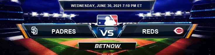 San Diego Padres vs Cincinnati Reds 06-30-2021 Spread Game Analysis and MLB Baseball