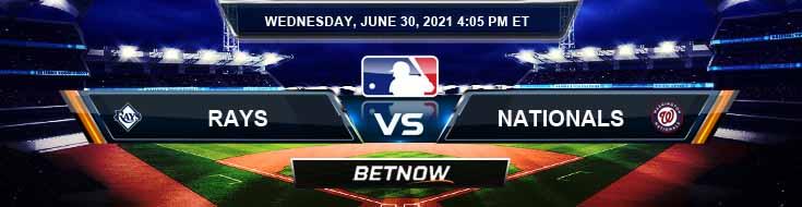 Tampa Bay Rays vs Washington Nationals 06-30-2021 Analysis Odds and Picks