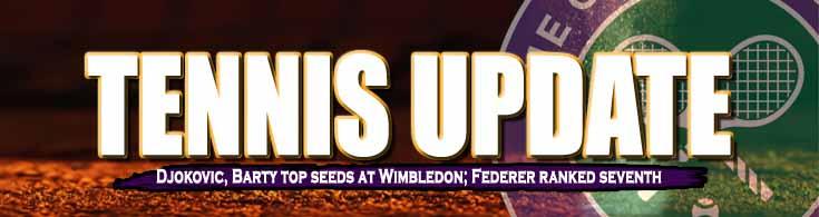 Tennis Update Novak Djokovic, Ashleigh Barty Top Seeds at Wimbledon Federer Ranked Seventh