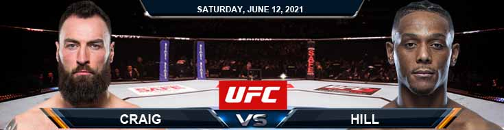 UFC 263 Craig vs Hill 06-12-2021 Results Analysis and Odds