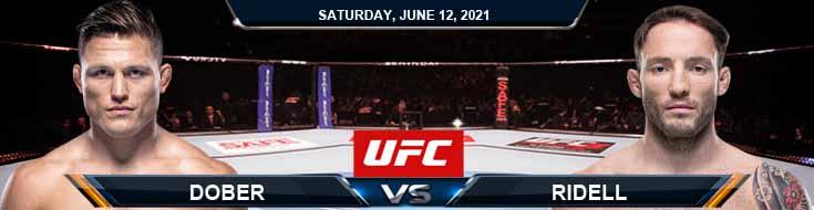 UFC 263 Dober vs Riddell 06-12-2021 Analysis Odds and Picks