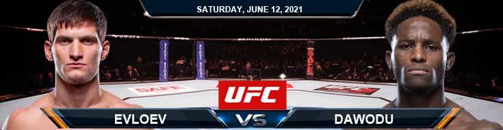 UFC 263 Evloev vs Dawodu 06-12-2021 Predictions Previews and Spread