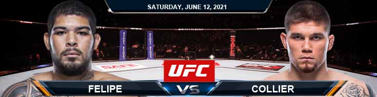 UFC 263 Felipe vs Collier 06-12-2021 Tips Results and Analysis