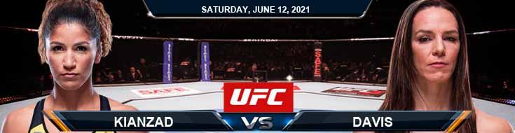 UFC 263 Kianzad vs Davis 06-12-2021 Previews Spread and Fight Analysis