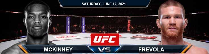 UFC 263: McKinney vs Frevola 06/12/2021 Spread, Fight Analysis and Forecast
