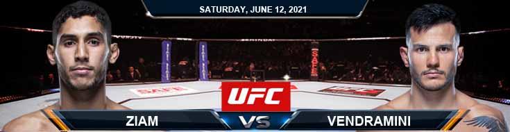 UFC 263 Ziam vs Vendramini 06-12-2021 Forecast Tips and Results